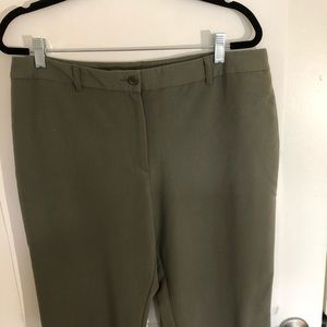 Sharangano olive green career pants.